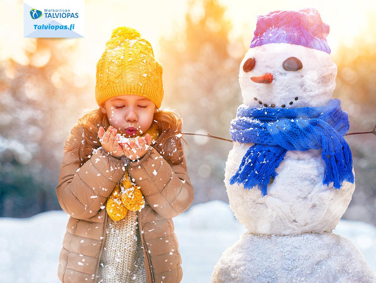 Matkailijan talviopas lumiukko