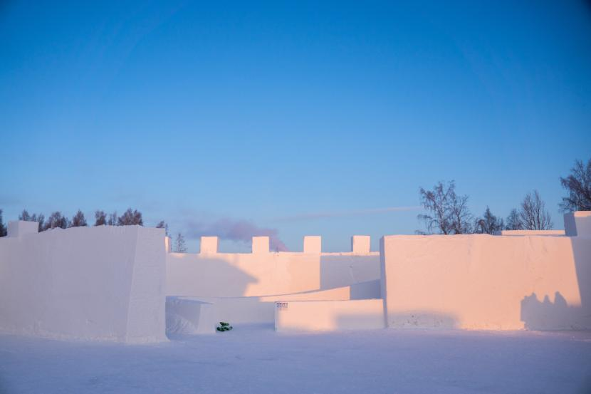 Kemiin nousee talvisin LumiLinna ympärivuotisen lumen ja jään elämyksen lisäksi. Kuva: Experience365 - Kemin Matkailu Oy